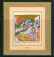 HUNGARY-1971.Souv.Sheet - Illuminated Chronicle(Art,Paintings)  MNH!!! Mi Bl.85