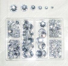 Acryl-Diamanten Set ca. 220 Strass-Steine ● Glitzersteine zum Aufkleben crystal
