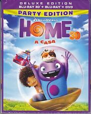 Blu-ray 3D + Blu-ray 2D + Dvd «HOME A CASA» Deluxe Edition DreamWorks nuovo 2015