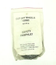 """Florida Pneumatic Cut Off Wheels 122060 Pack of 6 """"Made In The USA"""""""