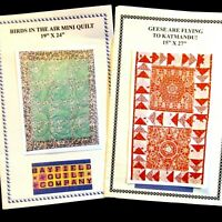 Lot 2 Mini Quilt Patterns Geese Are Flying To Katmandu Birds In The Air Bayfield