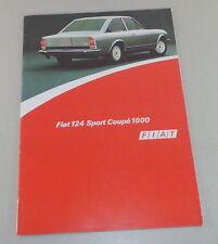 Prospetto/brochure FIAT 124 SPORT COUPE 1800 STAND 04/1973