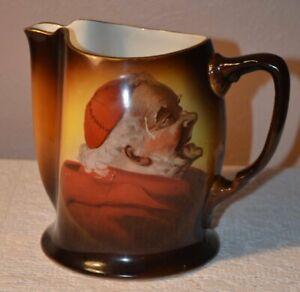 Antique Warwick China Porcelain Cardinal Monk Jug Pitcher