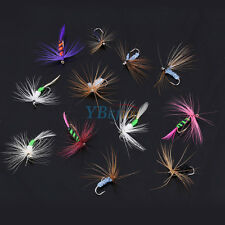 12Pcs Fly Fishing Flies Trout Dry Floating Lures Baits Tackle With Hook ZY