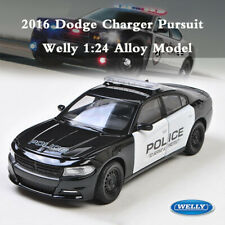 WELLY 1:24 2016 Dodge Charger R/T Pursuit Police Vehicle Diecast Metal Model Car