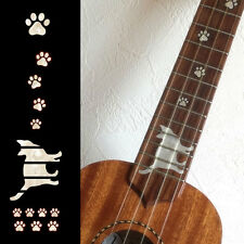 Fret Markers Neck Inlay Sticker For SOPRANO Ukulele - Cat Foot Print / Cat Paws