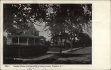 Freeport Long Island NY Bergen Place North to Lena Ave c1905 Postcard
