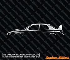 "2x car silhouette stickers - for Subaru Impreza WRX STI ""hawk eye"" 2nd gen"