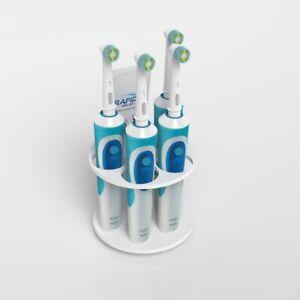 Gloss White Electric Toothbrush Holder & Toothpaste Holder / Bathroom Organiser