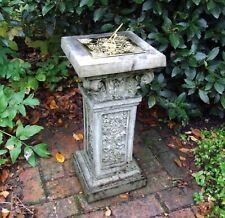 More details for rocco brass stone sun dial - garden sundial