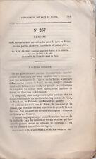 RARE. WILLIAM FRAISSE LA CORRECTION DES EAUX DU JURA EN SUISSE. 1867 MÉMOIRE.