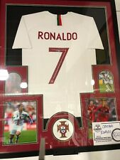 Christiano Ronaldo -  Portugal-  Autographed Framed Jersey - Beckett
