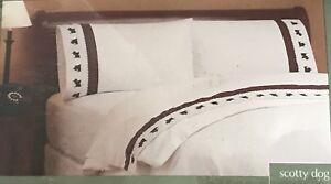 Scotty Dog Heavyweight Flannel Twin Sheet Set NIP