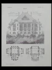L'ARCHITECTURE N°47 1906 - THONON LES BAINS, MOYNAT, VILLA MONTAGNE, BOILEAU