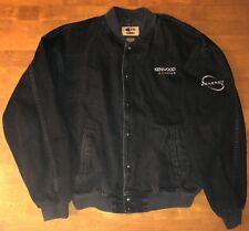 Vintage KENWOOD Excelon Kenergy Black Denim Jacket ID Wear Cotton Size XL RARE