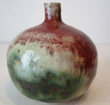 DEREK DAVIS VASE COPPER RED FLAMBE TYPE GLAZE