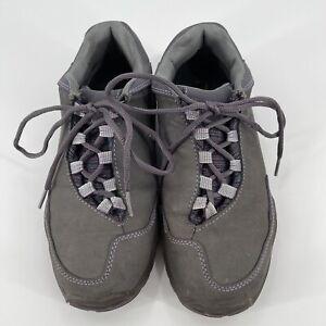 Kuru Womens Chicane Gray Leather Trail Hiking Walking Low Top Shoes Size 8.5