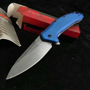 1776 Kershaw Pocket Folding Knife Blue Handle High Hardness Military Tactical