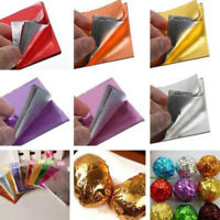 100pcs Square Aluminum Foil Wrappers for Chocolate Sweets Candy Package