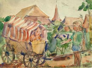 """Kliefert, Erich(1893-1994) """"Die Kliefertschen Kinder in Altefähr auf Rügen 1934"""""""