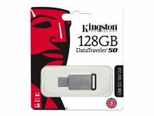 Kingston DT50 128 GB USB 3.1 3.0 Flash Disk Drive unidad stick Carcasa de metal