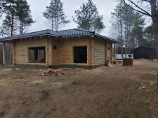 Rundblockhaus mit Terrasse aus Massivholz 97 qm