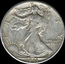 A 1943 S Walking Liberty Half Dollar 90% SILVER US Mint (Exact Coin Shown) BM4