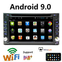"GPS Navigation DVD Player Car Stereo Double 2Din 6.2"" Android 9.0 Wifi 4G Radio"