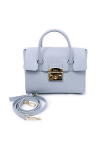 Woman Handbag Furla Metropolis S Satchel 1007259 violetta light blue leather bag