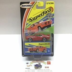 Matchbox Superfast #18 1970 Pontiac GTO judge red limited to 10,000 (T6)