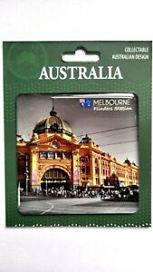 Australia Melbourne Souvenir Magnet. Flinders St. Station Design NEW Great Gift