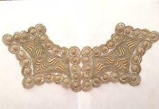 Antique Victorian Embroidered Lace Dress Yoke Collar Trim Piece