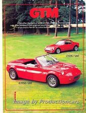 1987 GTM Rossa and Coupe Original Advertisement Print Art Car Ad J756
