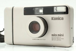 [EXC+5 ] Konica Big mini BM-301 35mm Point & Shoot film Camera Tested from JAPAN