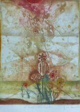 RENE CARCAN Le baroque et les végétaux HAND SIGNED Etching 1982 Belgium Artist