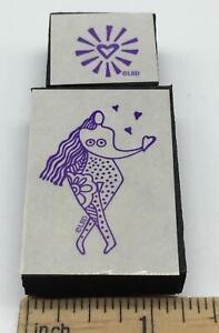 Laurel Burch WOMAN HEART Foam mounted Rubber Stamp