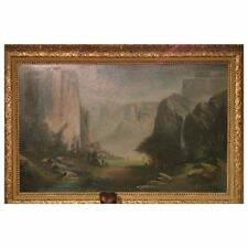 Large Oil In the Manner of California Artist Thomas Hill 'Yosemite Valley'