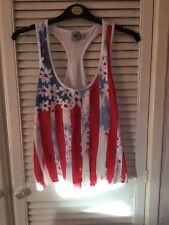 Ladies Brand New ASOS Floral & Striped Vest Top UK Size 10