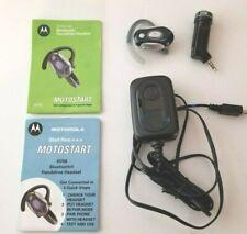 Genuine Motorola H700 Silver/Black Ear-Hook Bluetooth Headset w/ power supply