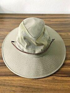 Dorfman Pacific Co. Men's DPC Outdoors Cotton Hat, Olive/tan