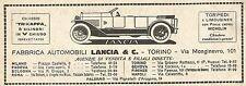 W9152 Fabbrica Automobili LANCIA & C. - Pubblicità del 1923 - Vintage advert