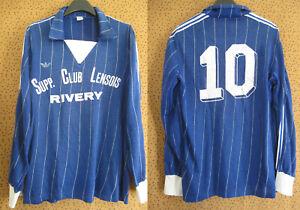 Maillot Adidas Ventex Rivery Supp Lens 80'S porté #10 Football Vintage - M