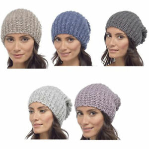 LADIES SLOUCH SEQUINNED BEANIE HAT