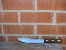 """Antique 7"""" Blade ** ROBESON - Shur Edge ** Small Carbon Steel Butcher Knife USA"""