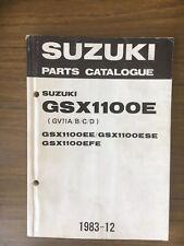 SUZUKI GSX1100E EE ESE EFE PARTS CATALOGUE CATALOGO RICAMBI 9900B-30033 (1983)