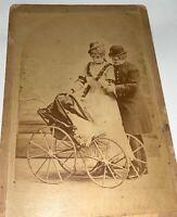 Rare Antique Victorian American Crossdressing Actress Stereoscopic Cabinet Photo
