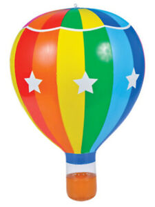 """22"""" Striped Inflatable Hot Air Balloon Toy Decoration"""