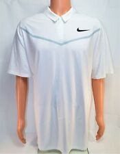 Nike Tiger Woods Tw Velocity Max White Golf Polo Shirt Sz Xx Large 833163 100