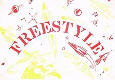 FREE STYLE Rave Flyer Flyers 1991 A5 Sedgwick Dance Studios Homerton E9