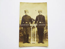 IMPERIAL RUSSIAN ARMY SOLDIERS BLACK/WHITE REAL PHOTO - POSTCARD WW1 ! (Nr: 7)